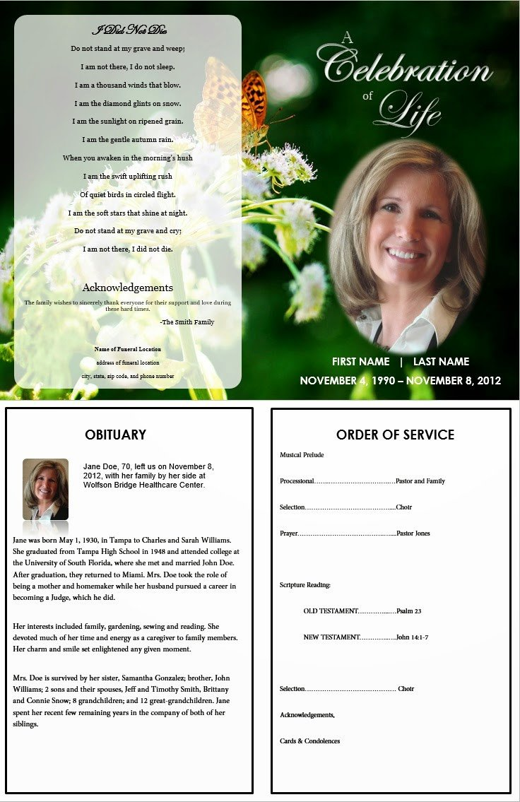 Free Funeral Program Templates the Funeral Memorial Program Blog Free Funeral Program