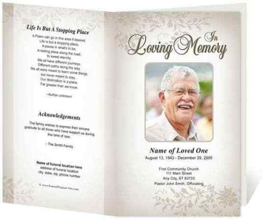 Free Funeral Programs Template Download 21 Free Free Funeral Program Template Word Excel formats