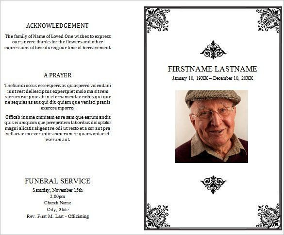 Free Funeral Programs Template Download 31 Funeral Program Templates Free Word Pdf Psd