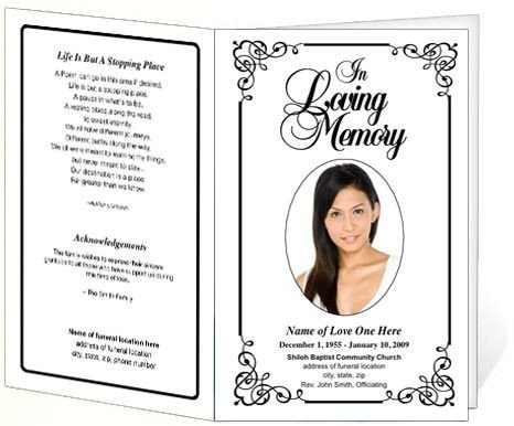Free Funeral Programs Template Download Cadence Funeral Program Template
