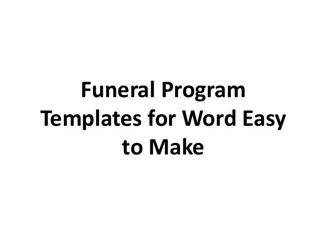 Free Funeral Programs Template Download Free Printable Funeral Program Template for Word to Download
