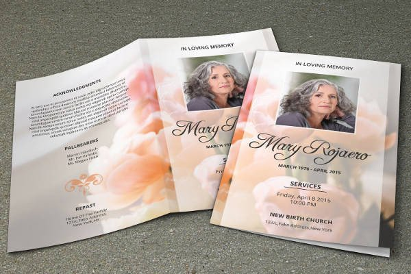 Free Funeral Programs Template Download Funeral Program Template 23 Free Word Pdf Psd format