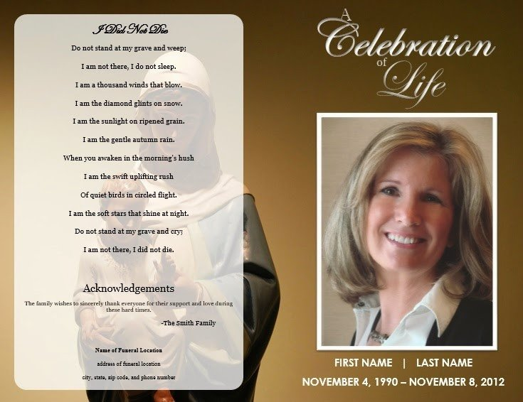 Free Funeral Programs Template Download the Funeral Memorial Program Blog Free Funeral Program