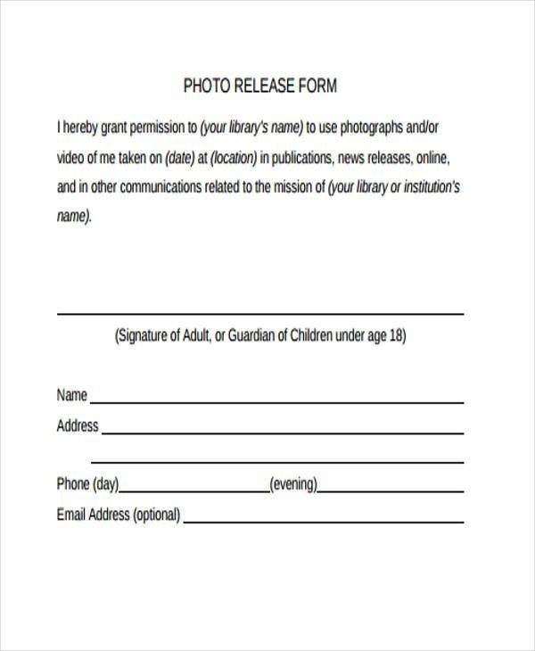 Free General Release form Template Release form Templates