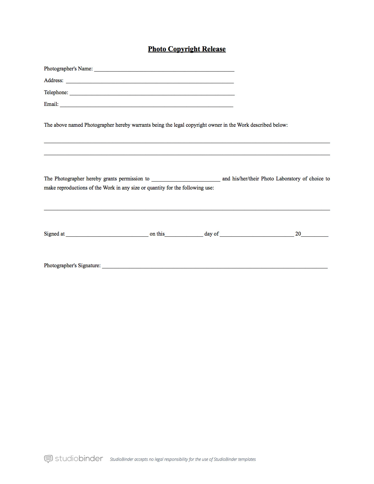 Free General Release form Template why You Should Have A Release form Template