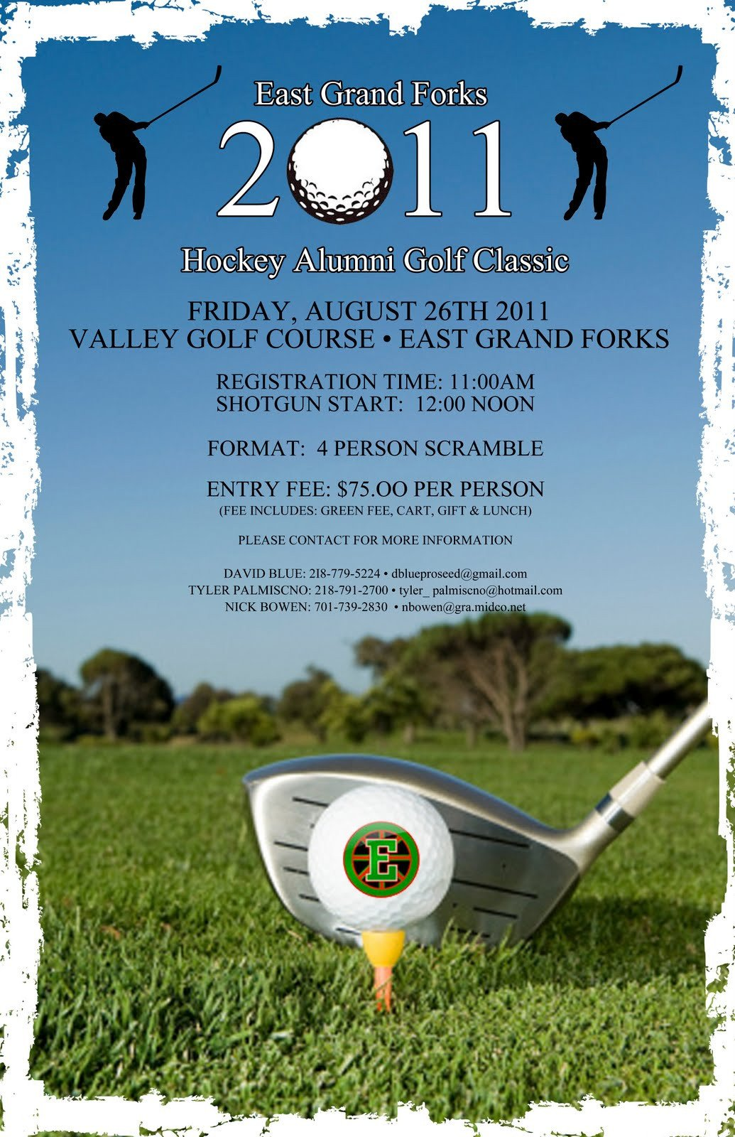 Free Golf Flyer Template East Grand forks Greenwave Hockey Golf tournament