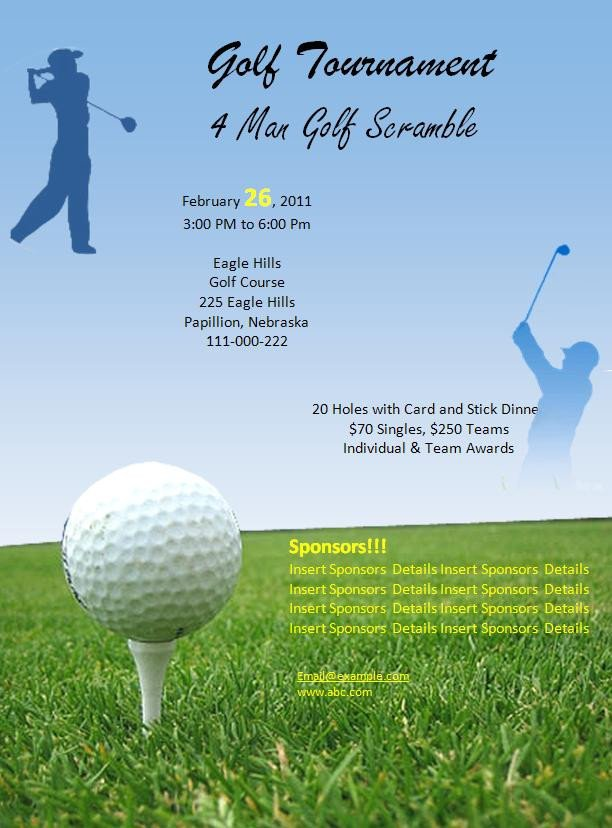 Free Golf Flyer Template Free Golf tournament Flyer Template