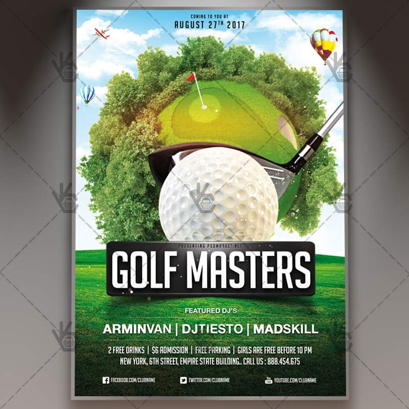 Free Golf Flyer Template Golf Masters Premium Flyer Psd Template