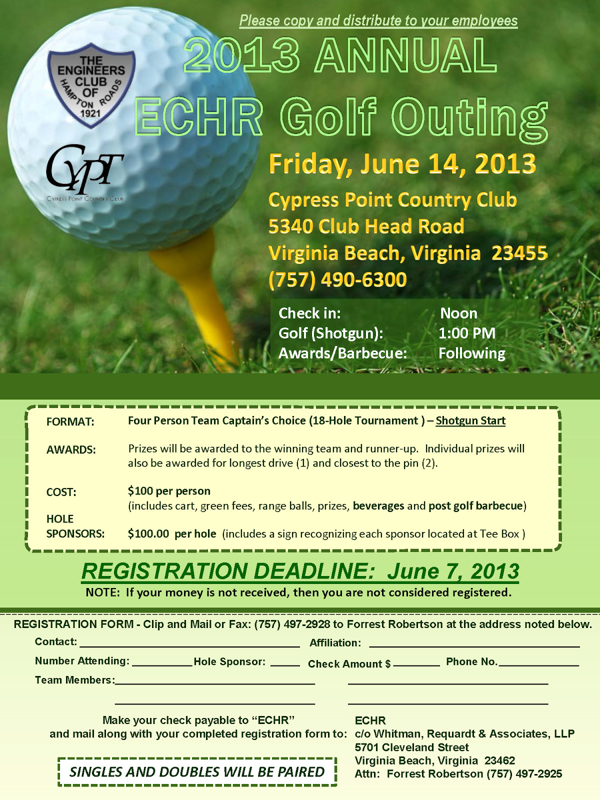 Free Golf Flyer Template Golf Outing Flyer Template