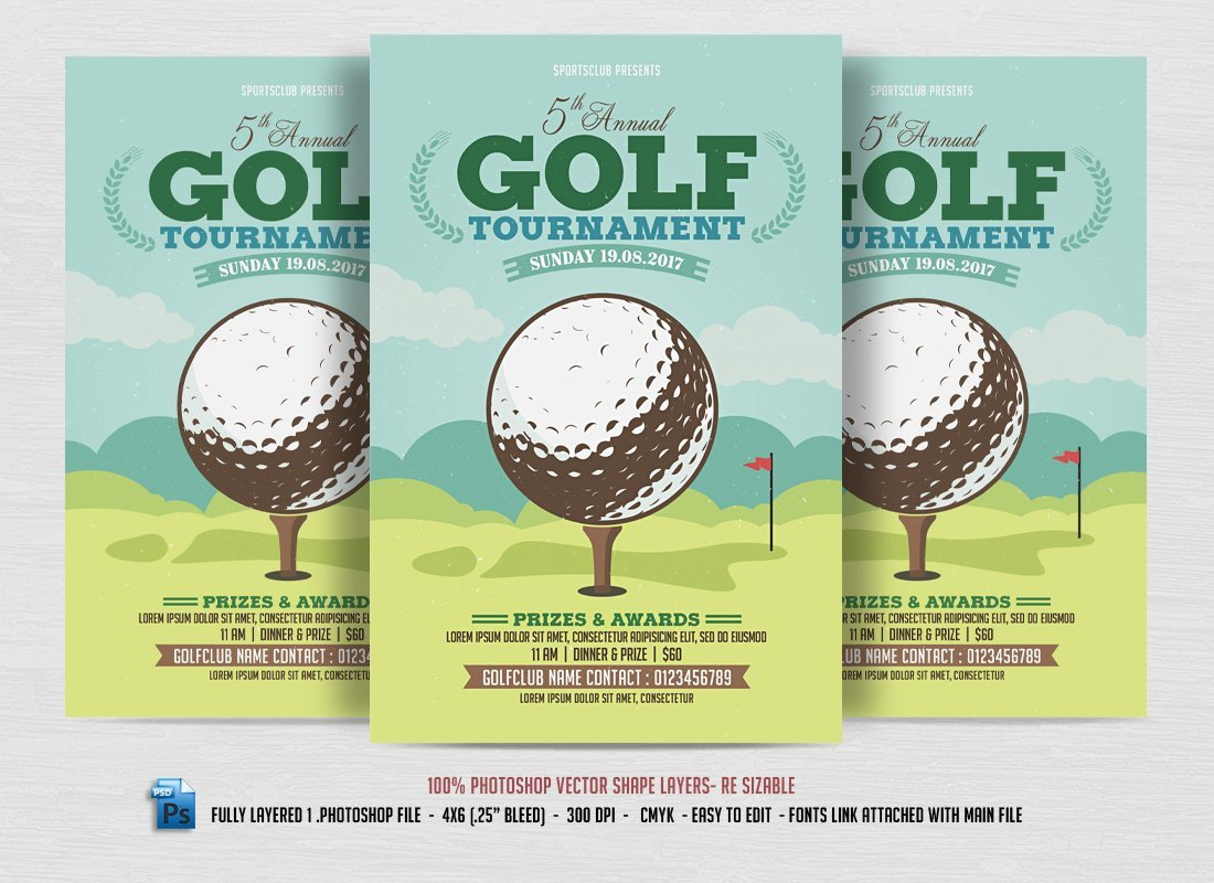 Free Golf Flyer Template Golf tournament Flyer Flyer Templates Creative Market