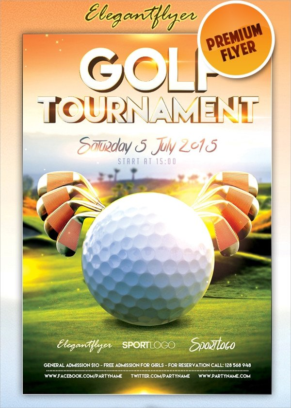Free Golf Flyer Template Golf tournament Flyer Template 23 Download In Vector
