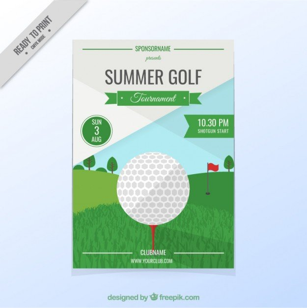 Free Golf Flyer Template Golf tournament Flyer Vector