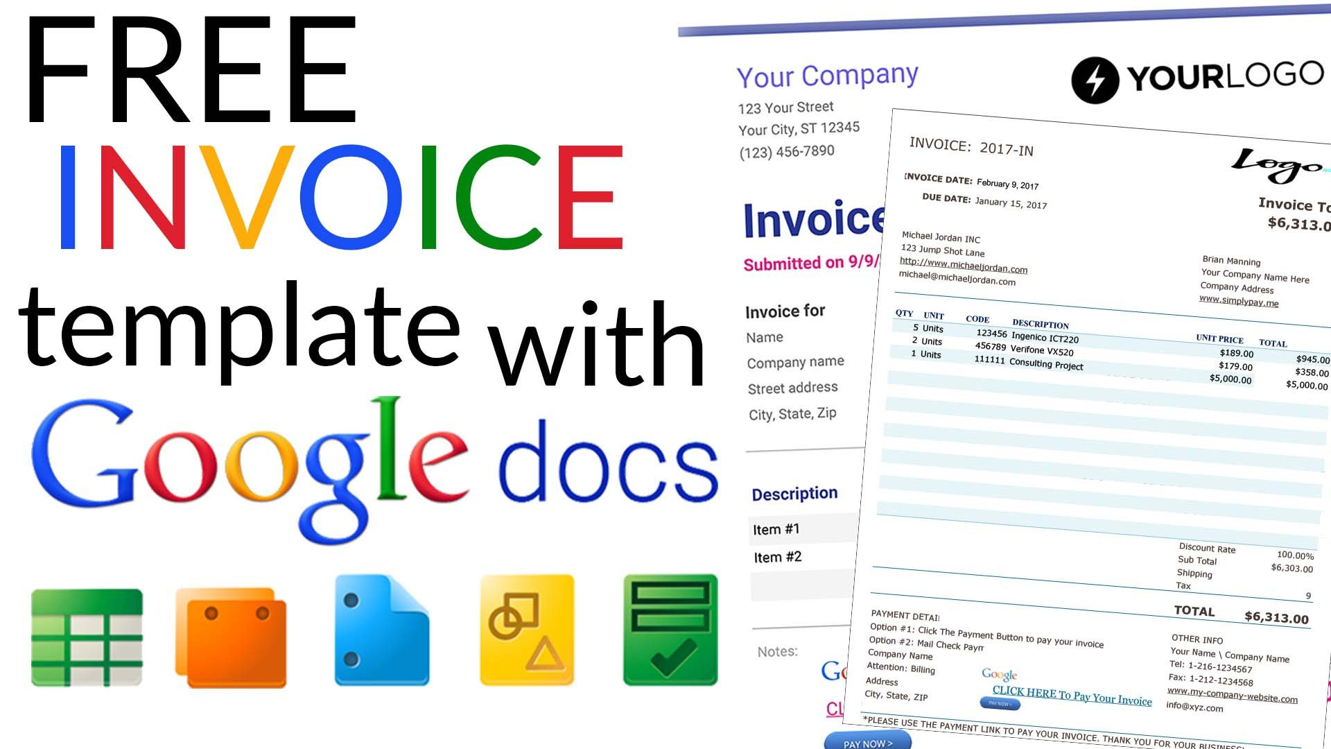 Free Google Doc Templates Free Invoice Templates with Google Docs