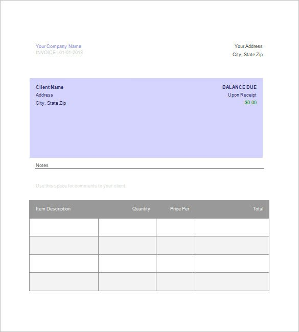 Free Google Doc Templates Google Invoice Template 25 Free Word Excel Pdf format