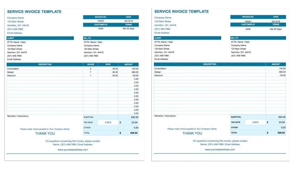 Free Google Docs Templates Free Google Docs Invoice Templates