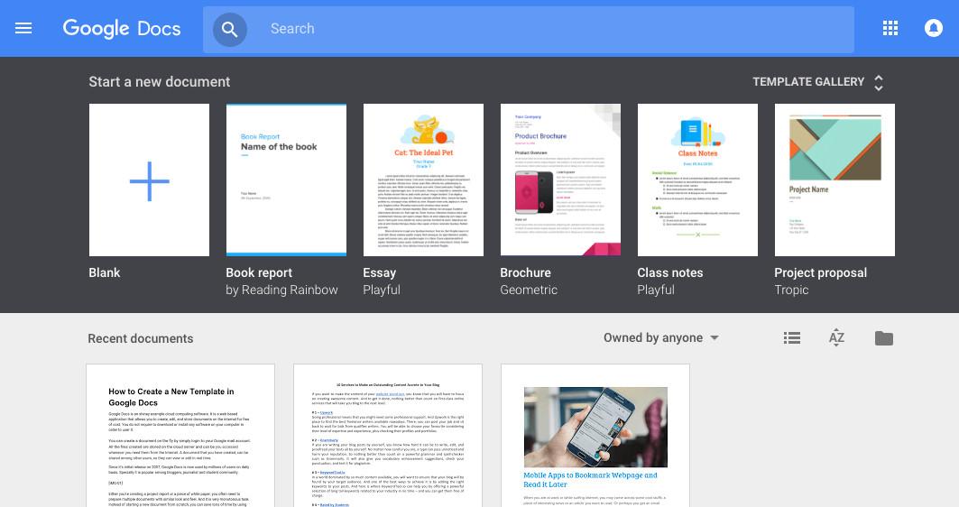 Free Google Docs Templates Google Docs Template Gallery