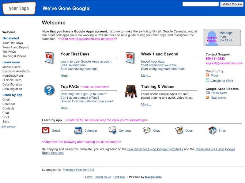Free Google Sites Templates Google Sites Gets Dozens Of Templates