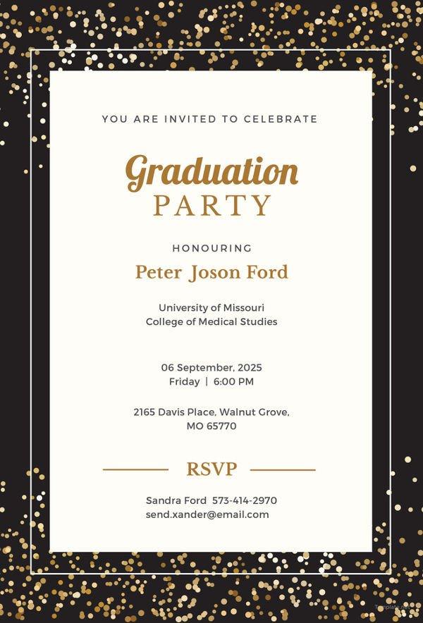 Free Grad Party Invitation Templates 19 Graduation Invitation Templates Invitation Templates