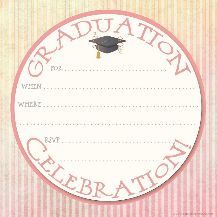 Free Grad Party Invitation Templates 40 Free Graduation Invitation Templates Template Lab
