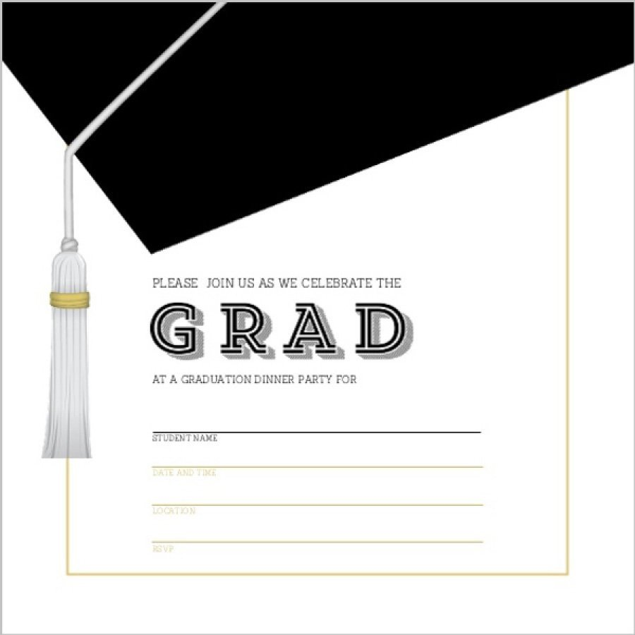 Free Grad Party Invitation Templates 40 Free Graduation Invitation Templates Template Lab