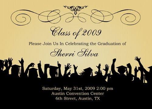 Free Grad Party Invitation Templates Free Graduation Templates S