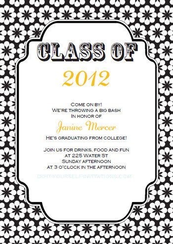 Free Grad Party Invitation Templates Free Printable Graduation Invitations Templates