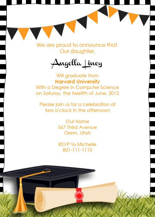 Free Grad Party Invitation Templates Graduation Party Invitation ← Wedding Invitation Templates