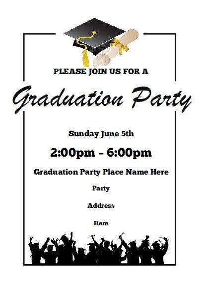 Free Grad Party Invitation Templates Graduation Party Invitations Free Printable