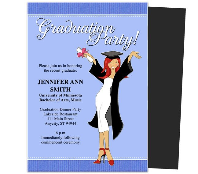 Free Grad Party Invitation Templates Graduation Party Invitations Templates Mencement