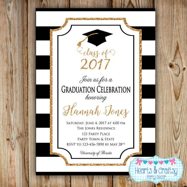 Free Graduation Announcements Templates 49 Graduation Invitation Designs & Templates Psd Ai