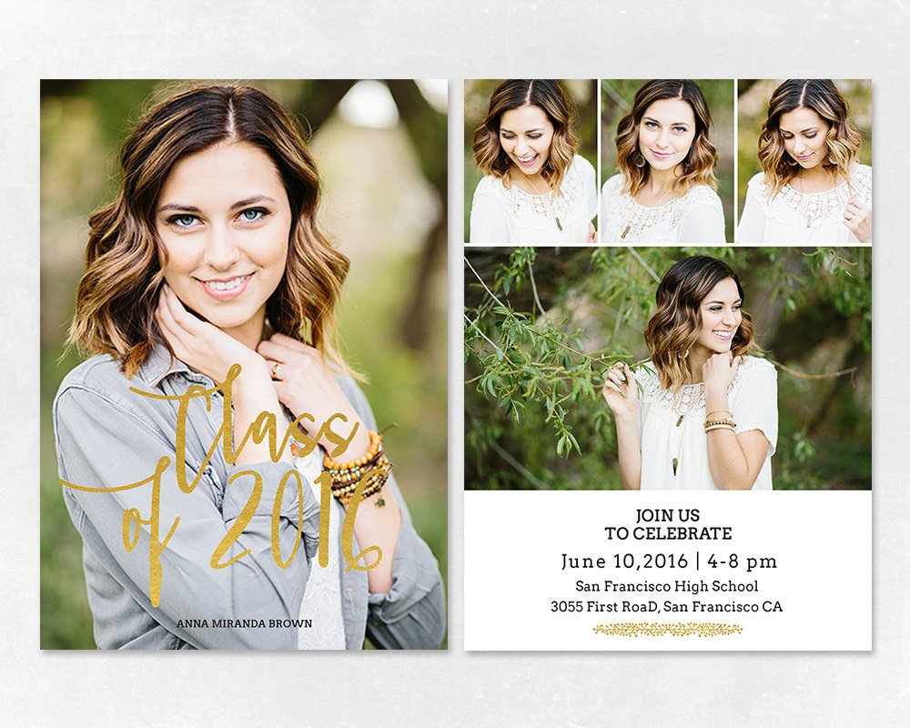 Free Graduation Announcements Templates Senior Graduation Announcement Template for by Salsaldesign