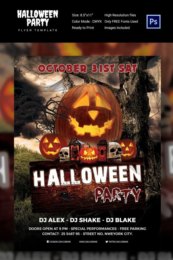 Free Halloween Flyer Templates 68 Halloween Templates Editable Psd Ai Eps format