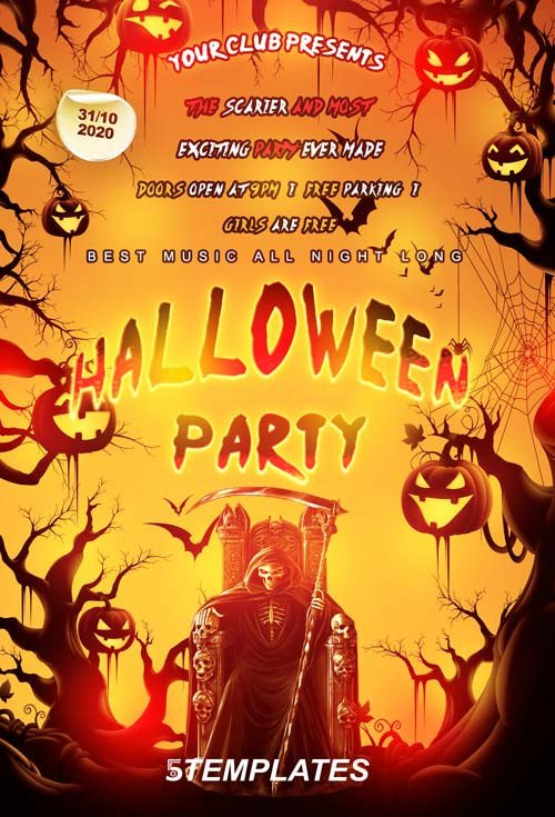 Free Halloween Flyer Templates Download Free Halloween Flyer Psd Templates for Shop