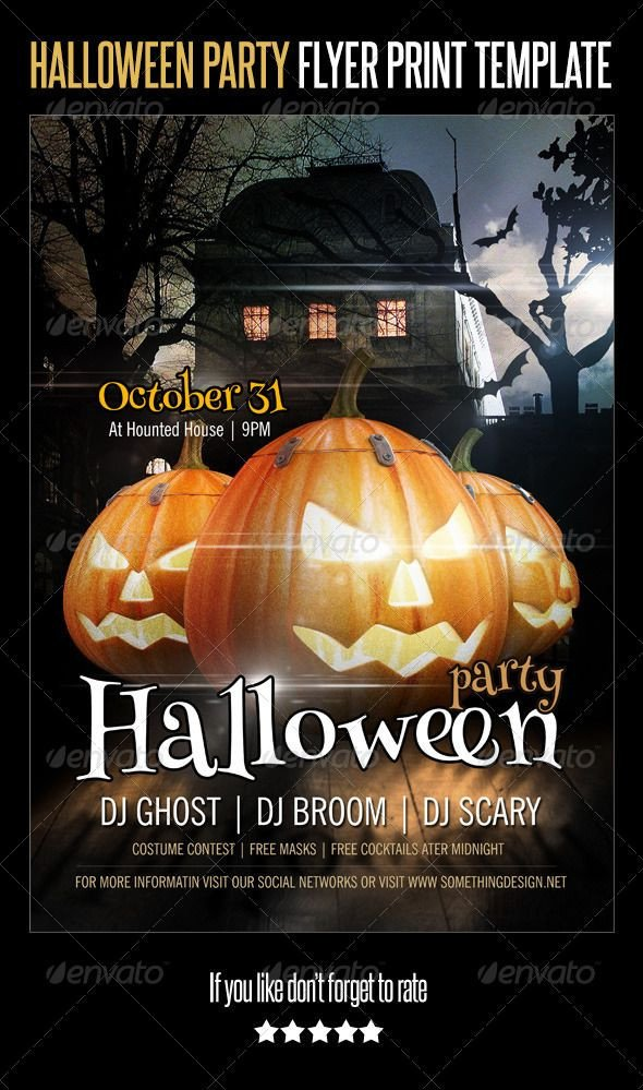 Free Halloween Flyer Templates Halloween Party Flyer Print Template Graphicriver
