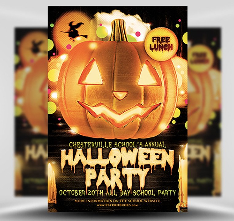Free Halloween Flyer Templates Halloween Party Flyer Template 4 15 the Pumpkin