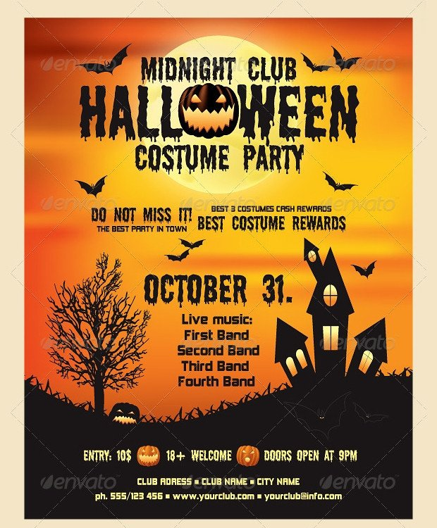 Free Halloween Flyers Templates 21 Halloween Flyer Designs and Templates Download