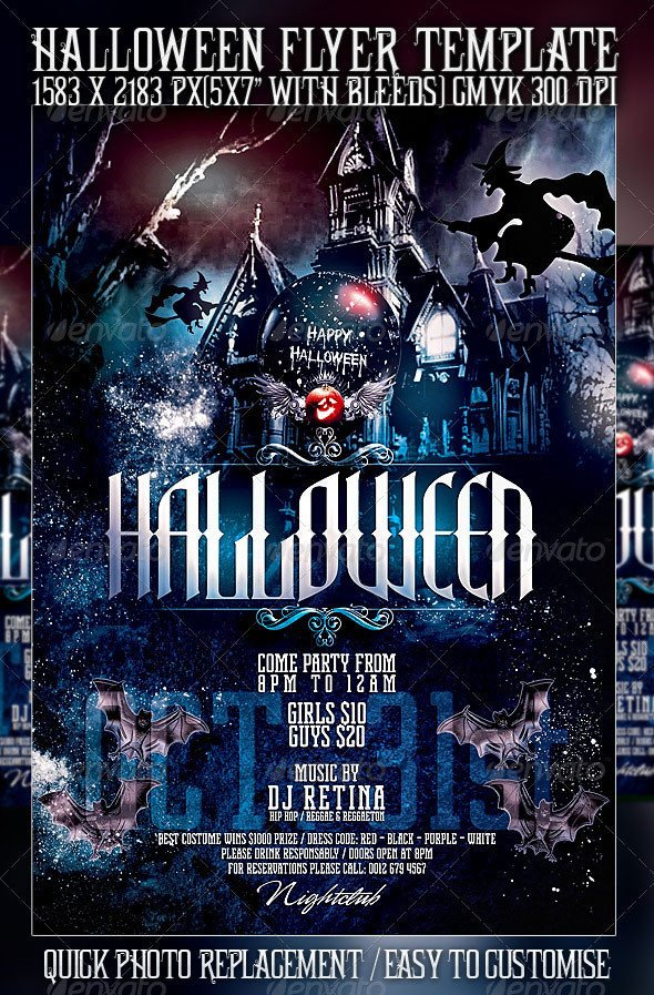 Free Halloween Flyers Templates 23 Wicked Halloween Psd Flyer Templates