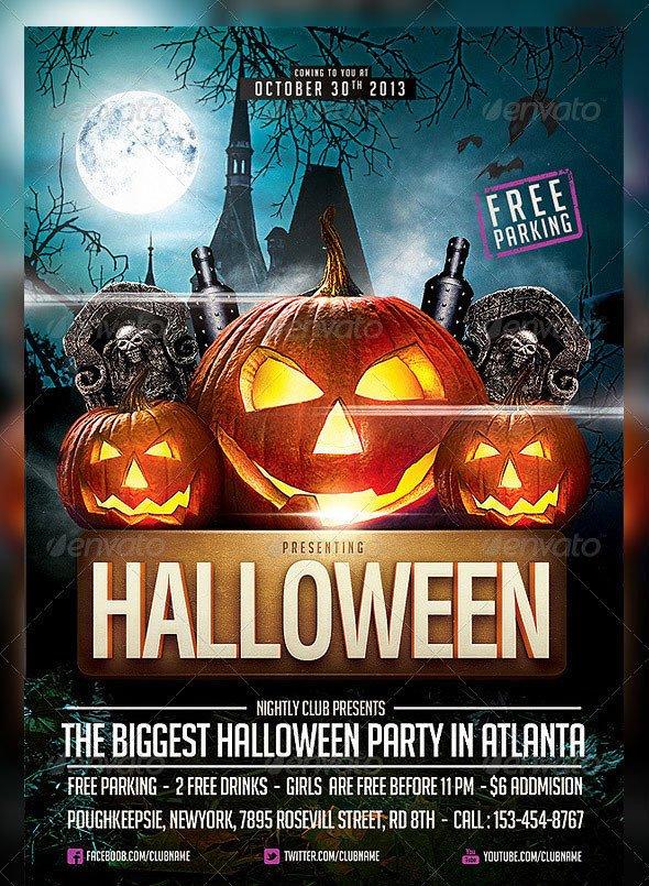 Free Halloween Flyers Templates 25 Hellacious Psd Halloween Flyer Templates 2015 – Bashooka