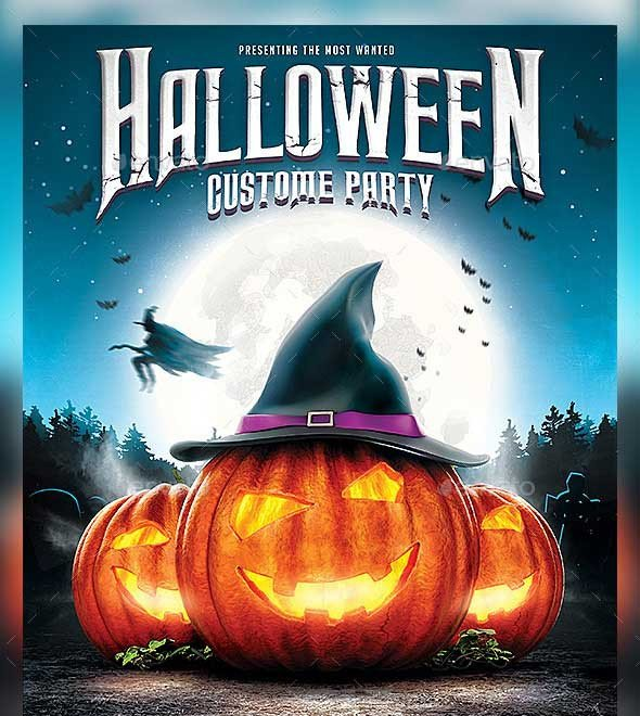 Free Halloween Flyers Templates 45 Best Halloween Psd Party Flyer Templates 2016
