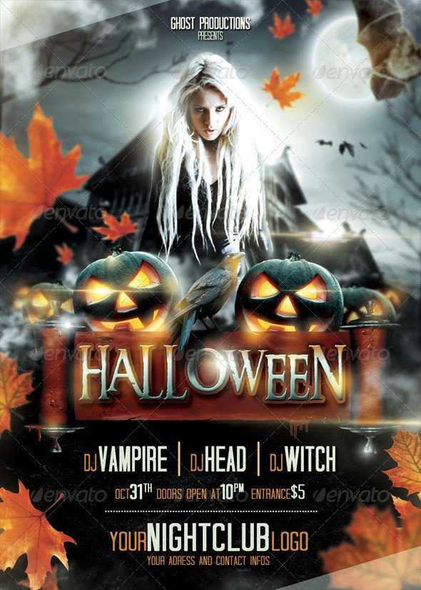 Free Halloween Flyers Templates 60 Premium & Free Psd Halloween Flyer Templates