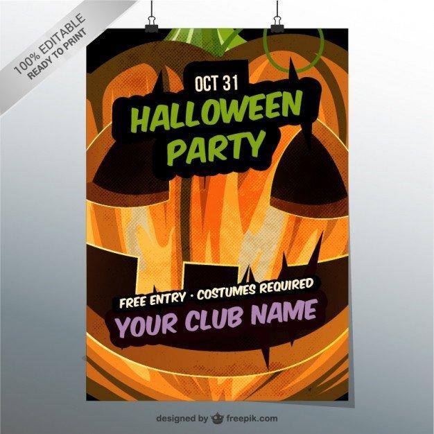 Free Halloween Flyers Templates Editable Halloween Party Flyer Template Vector