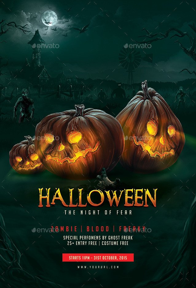 Free Halloween Flyers Templates Halloween Flyer Template by Hyov