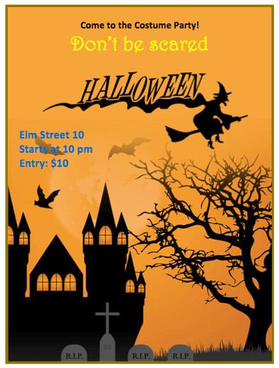 Free Halloween Flyers Templates Halloween Flyer Template orange theme Free Flyer Templates