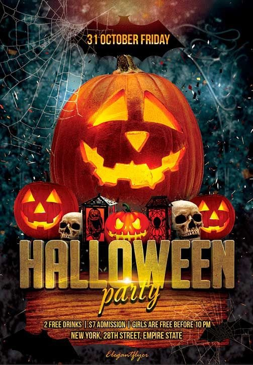 Free Halloween Flyers Templates Pin by Flyersonar On Free Psd Flyer Templates