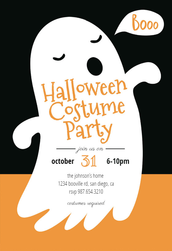 Free Halloween Invitation Templates Boos Halloween Party Invitation Template Free