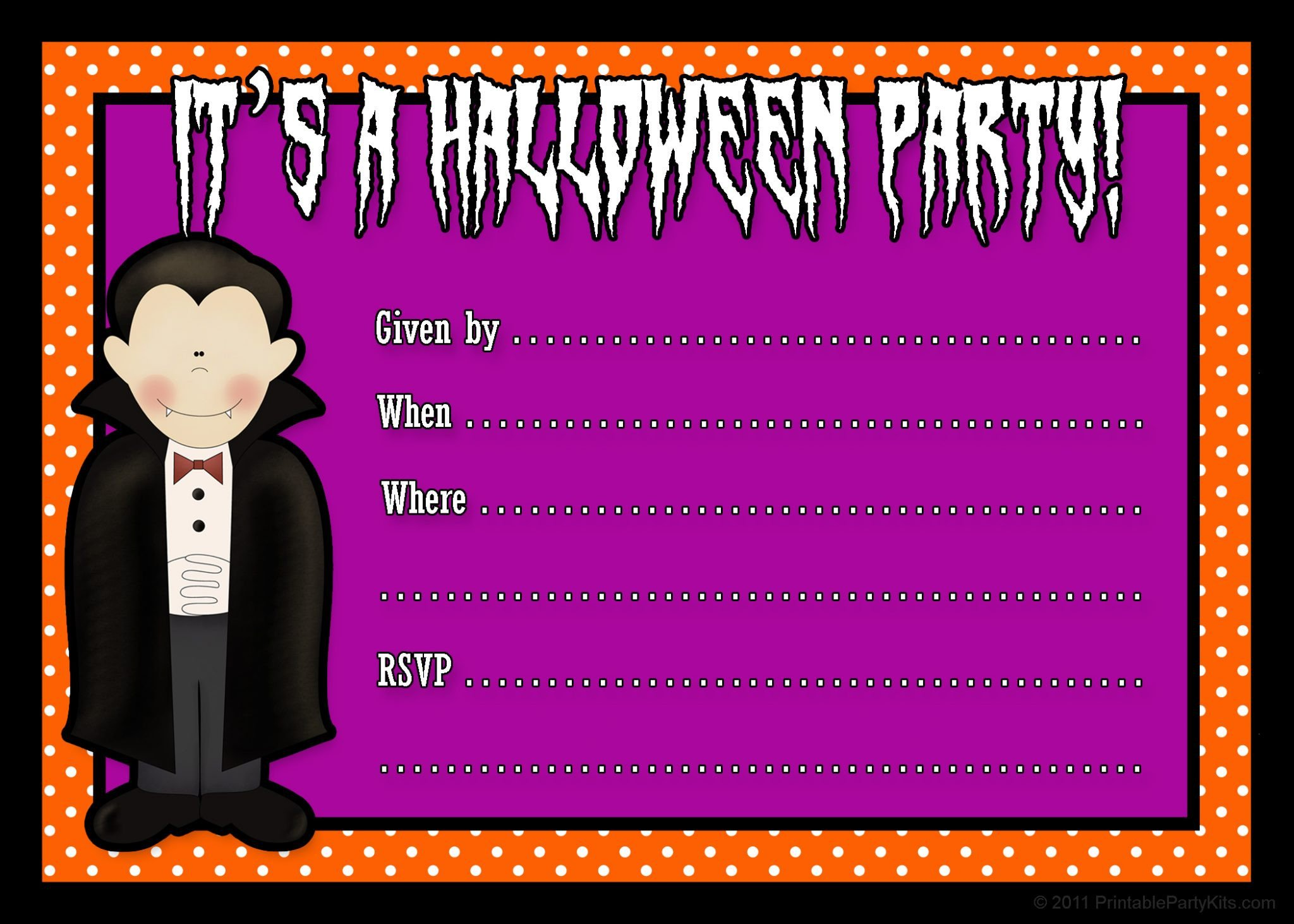 Free Halloween Invitation Templates Free Printable Halloween Party Invites