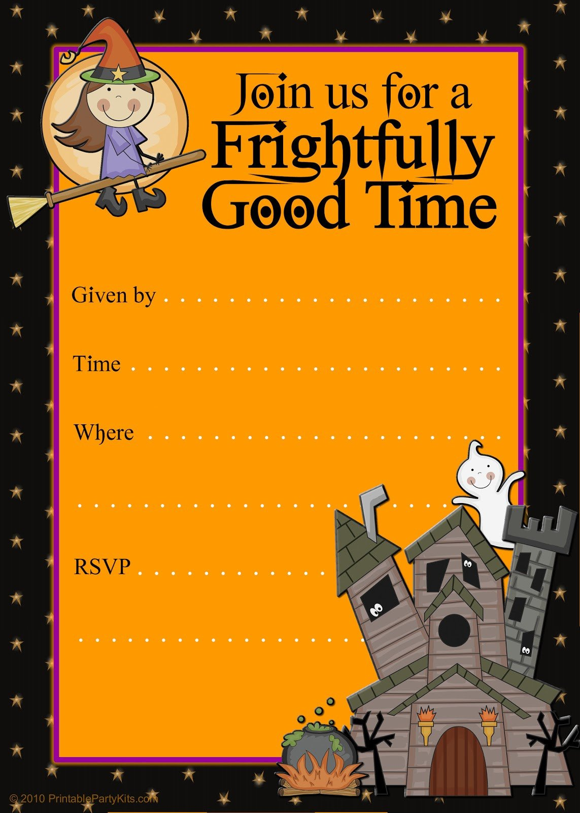 Free Halloween Invitation Templates Free Printable Party Invitations Printable Good Witch