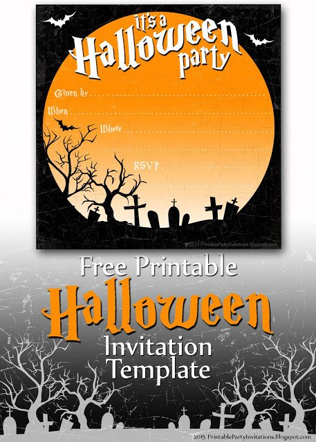 Free Halloween Invitation Templates Free Printable Party Invitations Spooky Graveyard