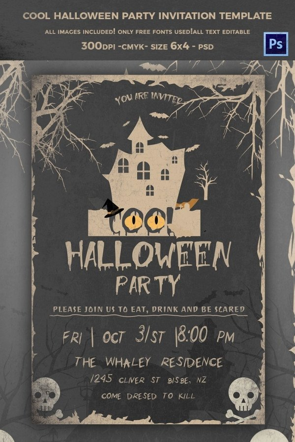 Free Halloween Invitations Templates Printable 35 Halloween Invitation Free Psd Vector Eps Ai