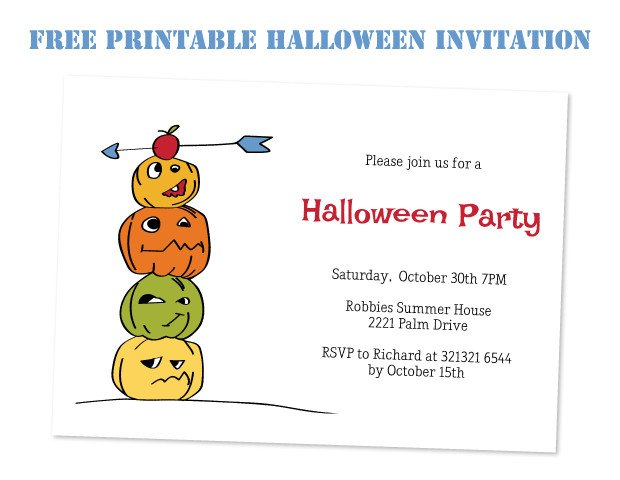 Free Halloween Invitations Templates Printable Coprinted